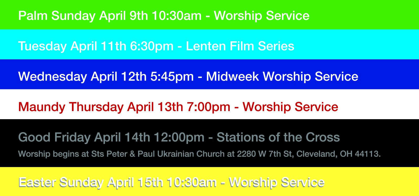 Holy Week At PILGRIM