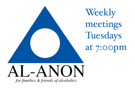 Al-Anon Weekly Meetings Tuesdays at 7pm